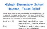 Hialeah Elementary School Houston. Texas Relief