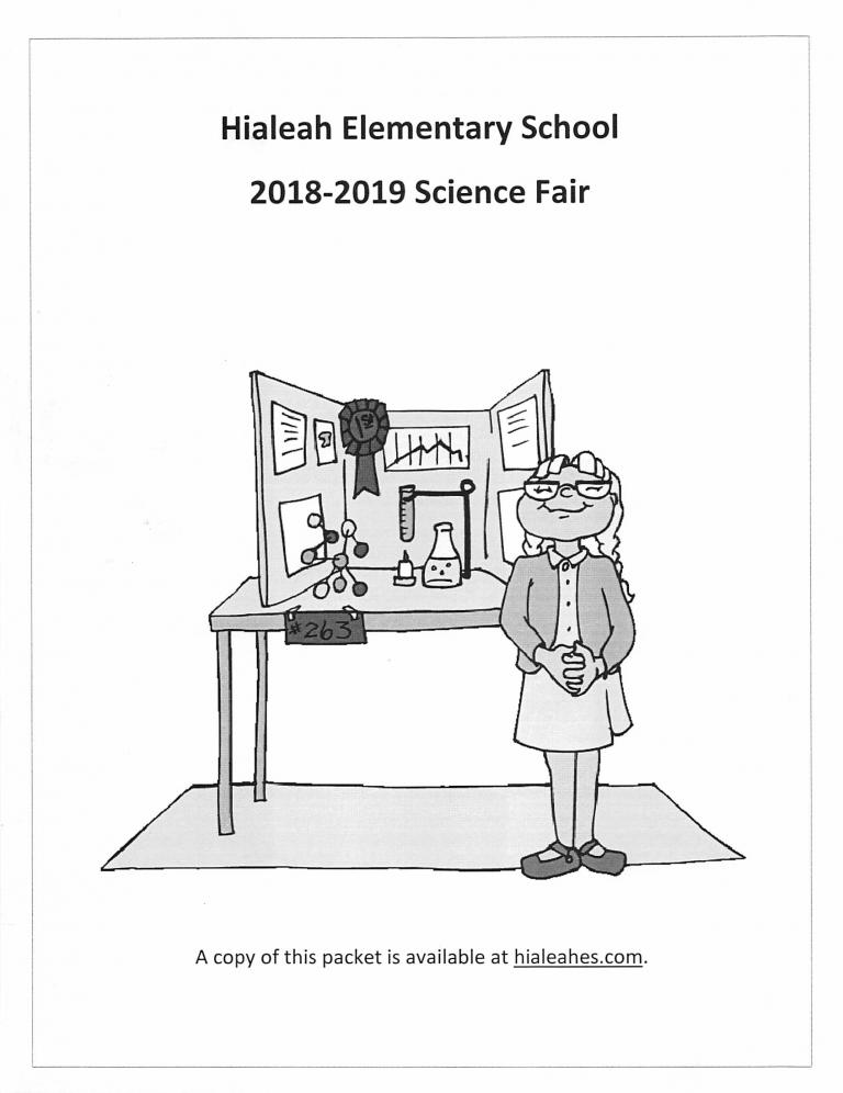 2018-2019 Science Fair Image